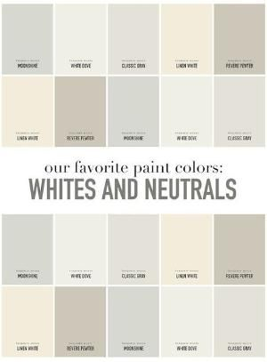 Interior Designer Favorite Whites And Neutrals Paint Colors By Benjamin Moore Moonshine White Dove