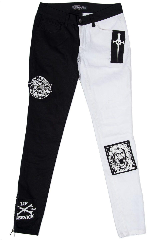 LIP SERVICE Punk & Disorderly (?) patch jeans #28-11-02