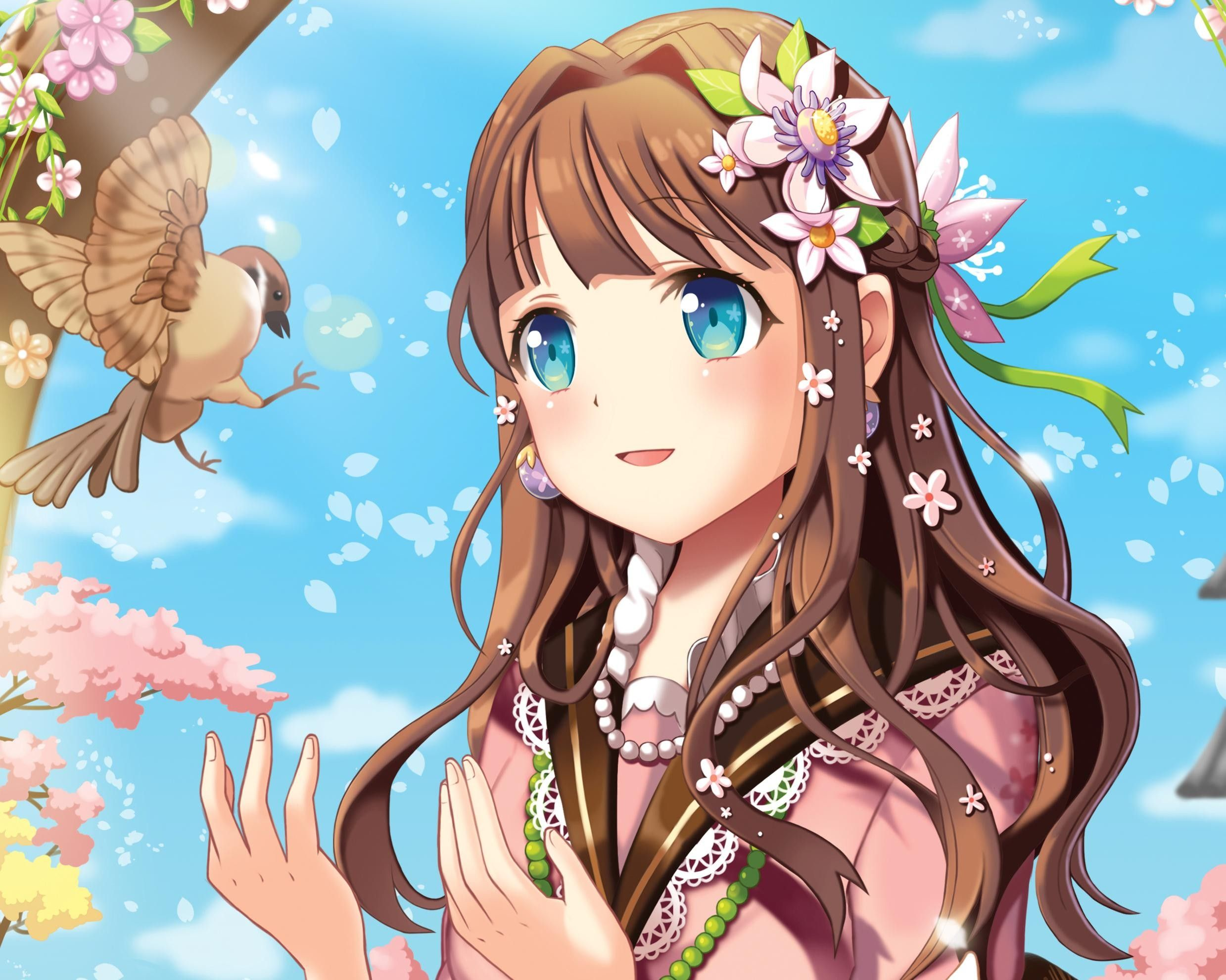 Anime girl with brown hair google search anime - Anime girl with blue eyes ...
