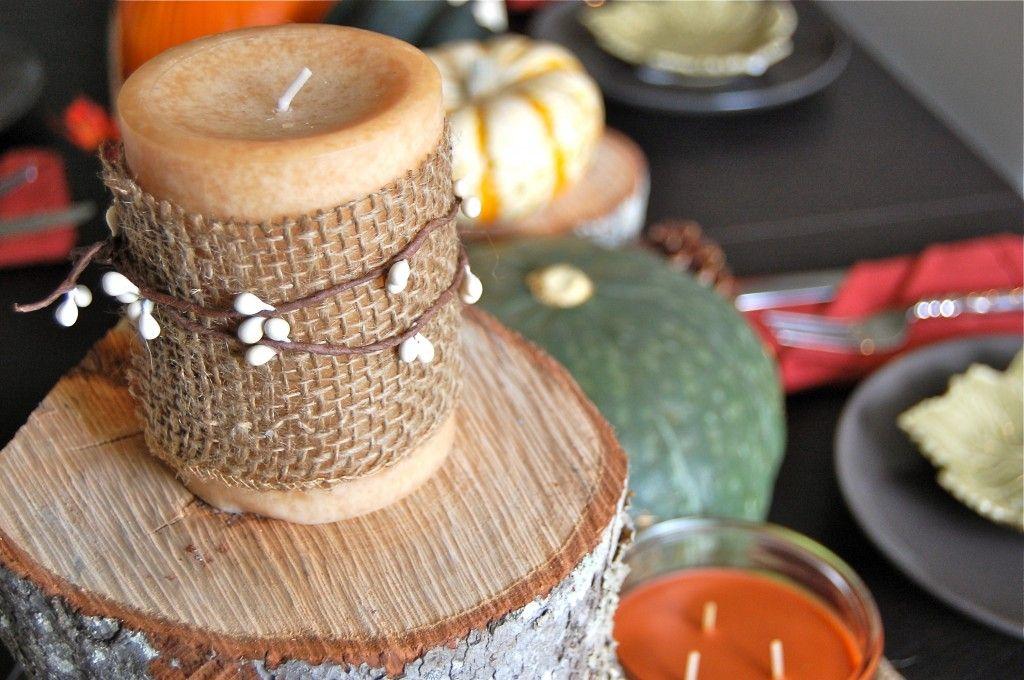 velas decoradas con yute y semillas emily velas decoradas con tela de yute cuentas semillas o frijoles para decorar las mesas de una fiesta de bu