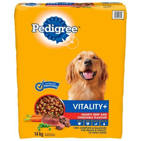 Pedigree Pedigree Vitality+ Hearty Beef And Vegetable 14Kg