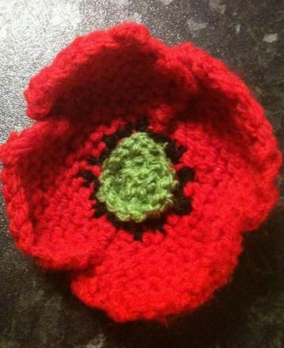 Knit Your Own Poppy For Remembrance Dayveterans Day Free