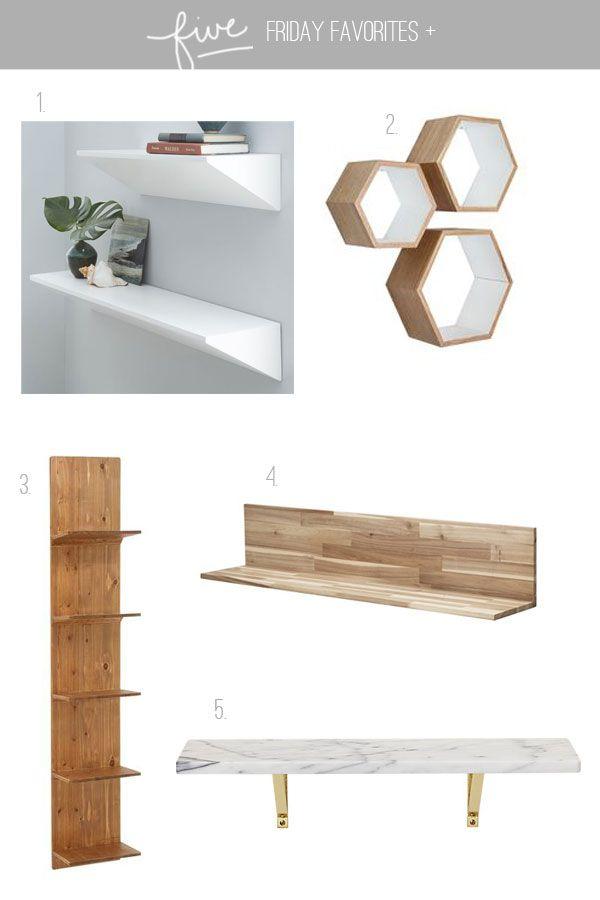 One Wedge Shelf At West Elm Two Hexagon Shelves Via Dot