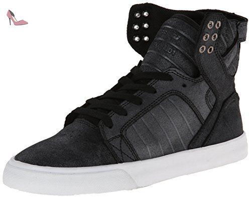 Supra Skytop, Sneakers Hautes Mixte Enfant, Rouge (Burgundy White), 38 EU
