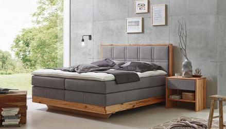 Boxspringbett 180 200 Cm In Grau Buchefarben Online Kaufen Xxxlutz Boxspringbett Schlafzimmer Design Bett