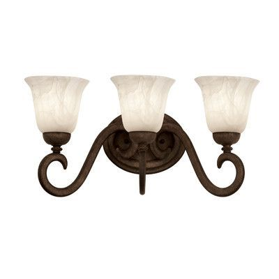 Kalco Santa Barbara 3-Light Vanity Light Shade Type Iridescent - best of ns21