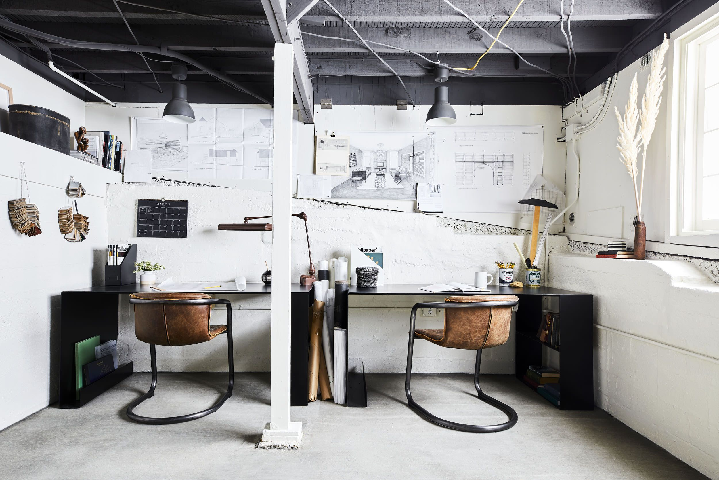 A Basement Turned Office Reveal 7 Steps For How To Pull Off
