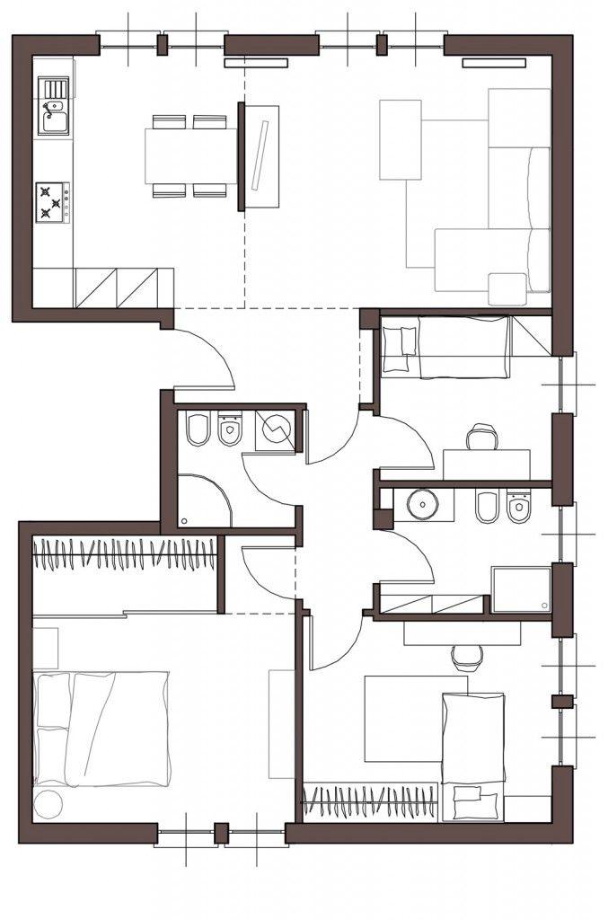 Da casa tradizionale ad abitazione moderna e attuale for Progetti di case moderne