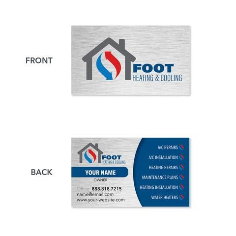 Design Sample Business Cards  Footbridge Marketing  Heating