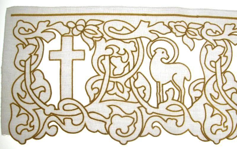 bordo intaglio croce agnello cm 21 bordi semprini arredi