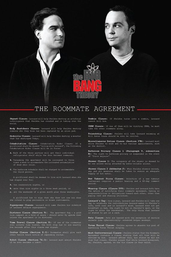 Roommate Agreement Poster So getting this for my dorm room! xD - roommate agreement