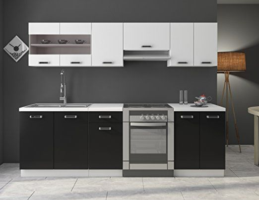 k che omega 279 99 euro 240 cm k chenzeile k chenblock variabel stellbar in schwarz. Black Bedroom Furniture Sets. Home Design Ideas
