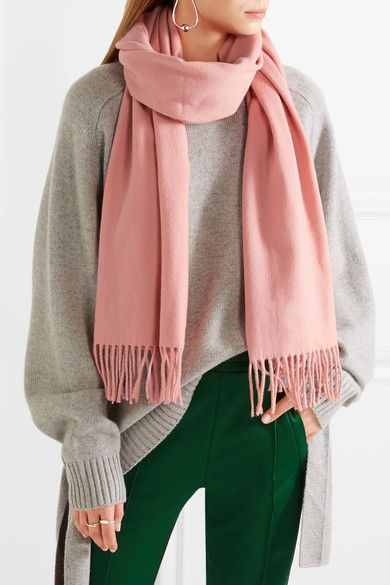 Canada Fringed Wool Scarf - Blue Acne Studios