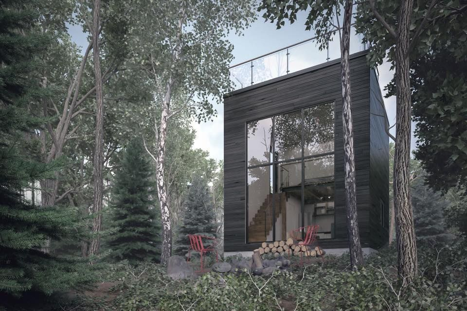 Rep Bor Microchalet Nature Small House Stone Houses Architecture