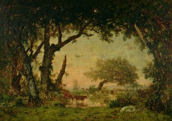 The Edge Of The Forest At Fontainebleau By Theodore Rousseau Art Art Prints Theodore Rousseau