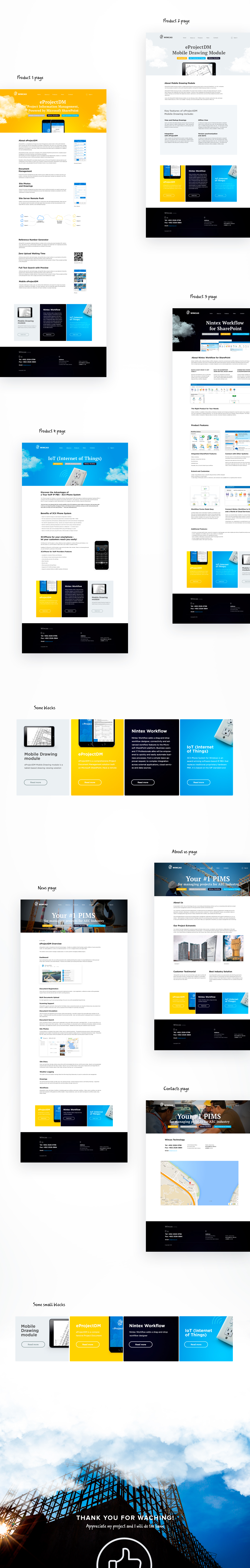 Programs complex for managing projects for AEC Industry on Behance