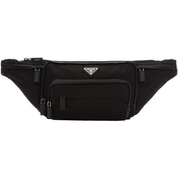 7dbbaf3c9593 Prada Black Nylon Mountain Fanny Pack ( 800) ❤ liked on Polyvore featuring  men s fashion