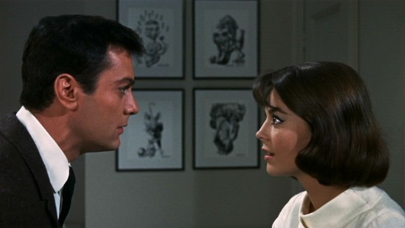 Natalie Wood and Tony Curtis in Sex and the Single Girl (1964)