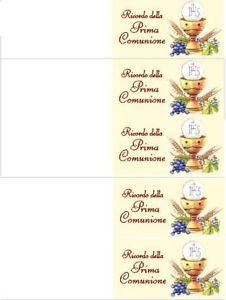 Bigliettini Prima Comunione Per Confetti Da Stampare Gratis Cerca Con Google Prima Comunione Comunione Bomboniera