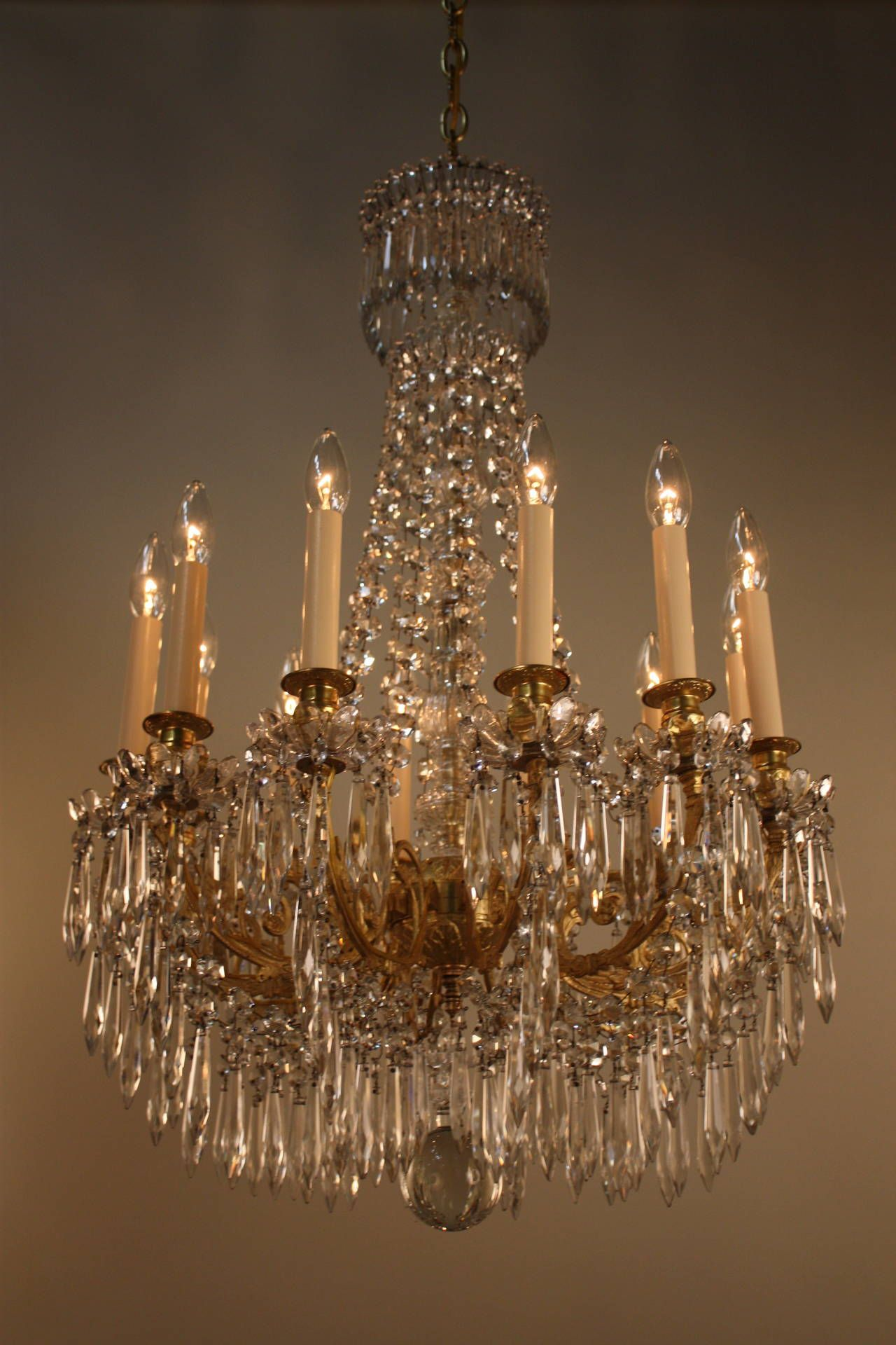 19th Century French Crystal Chandelier From A Unique Collection Of Antique And Modern Chandeliers Pendants At