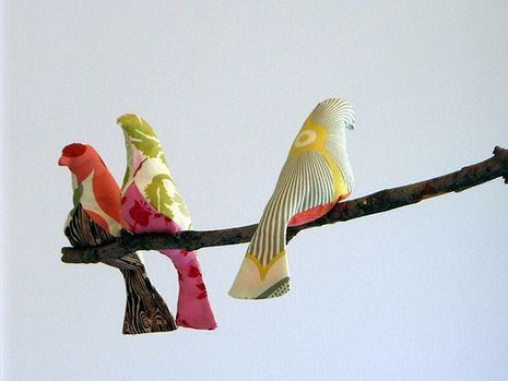 How To Make An Adorable Natural Mobile with Handmade Fabric Birds. » Curbly | DIY Design Community