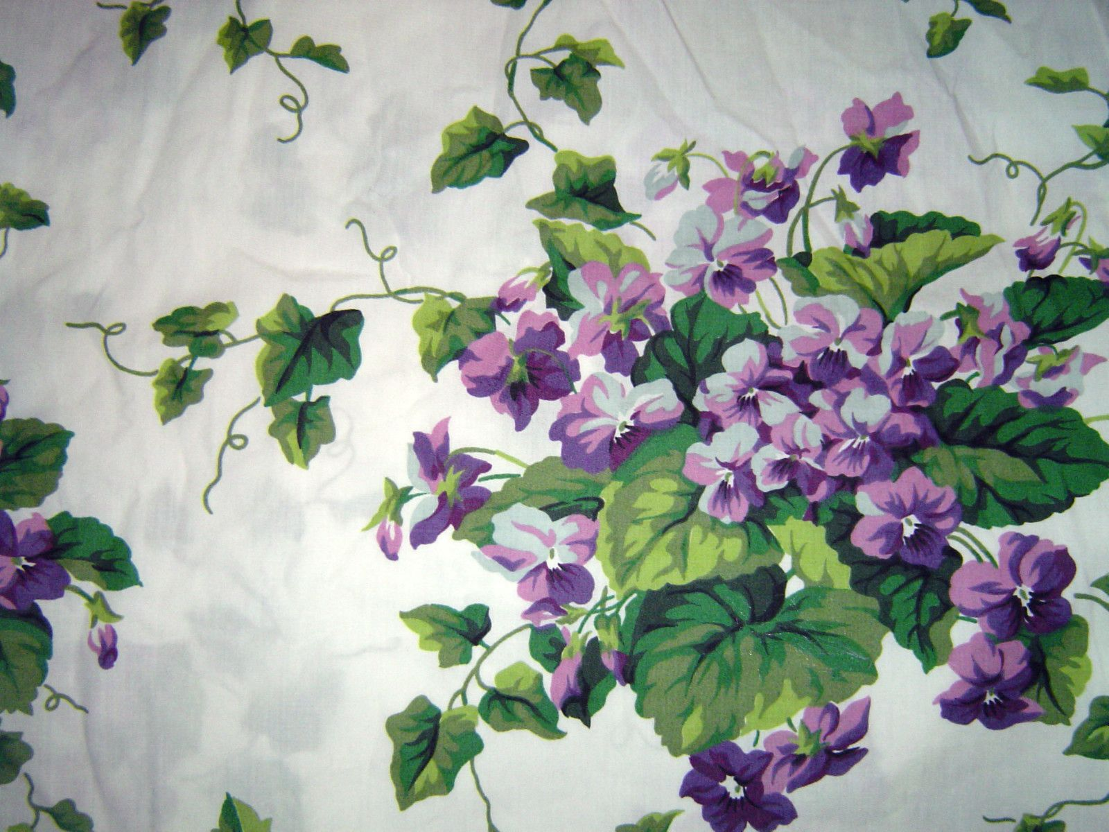 Waverly Sweet Violets Fabric Purple Green Lavender Floral