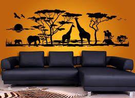 Bildergebnis f r wohnzimmer afrika schablonen afrika wandtattoo afrika afrika und afrika deko - Afrika stil wohnzimmer ...
