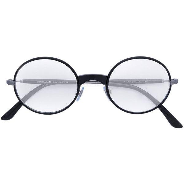 Giorgio Armani round frame glasses (995 BRL) ❤ liked on Polyvore ...