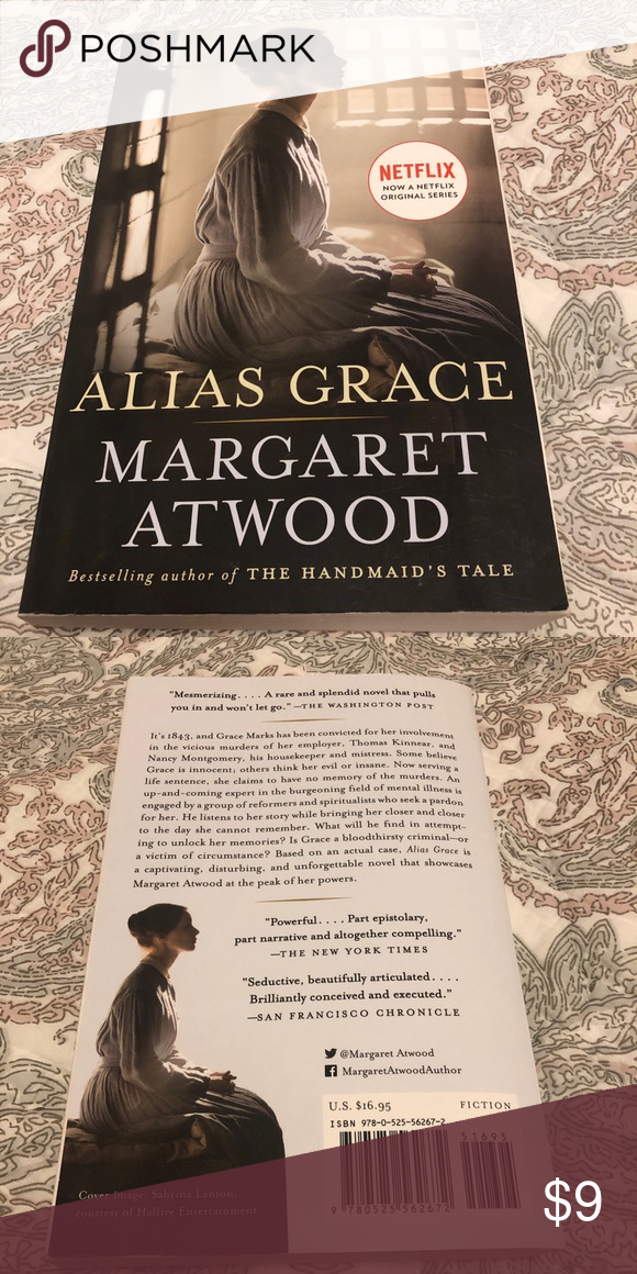 "3/$15 Alias Grace by Margaret Atwood (Book) Paperback Novel by Margaret Atwood, ""Alias Grace"" Other #margaretatwood 3/$15 Alias Grace by Margaret Atwood (Book) Paperback Novel by Margaret Atwood, ""Alias Grace"" Other #margaretatwood"