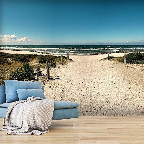 Vlies Fototapete Strand an der Nordsee - Das ORIGINAL - XXL Vliestapete Querformat Tapete ...