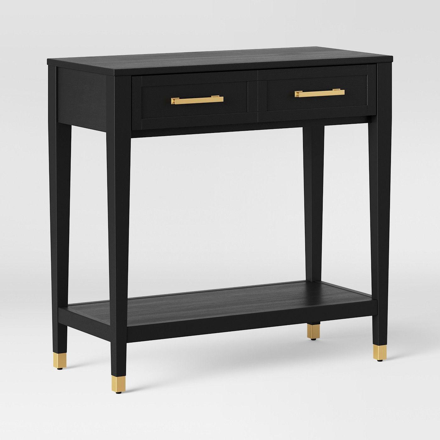 Duxbury Console Table Black Threshold Target Console Table Table Black Console Table