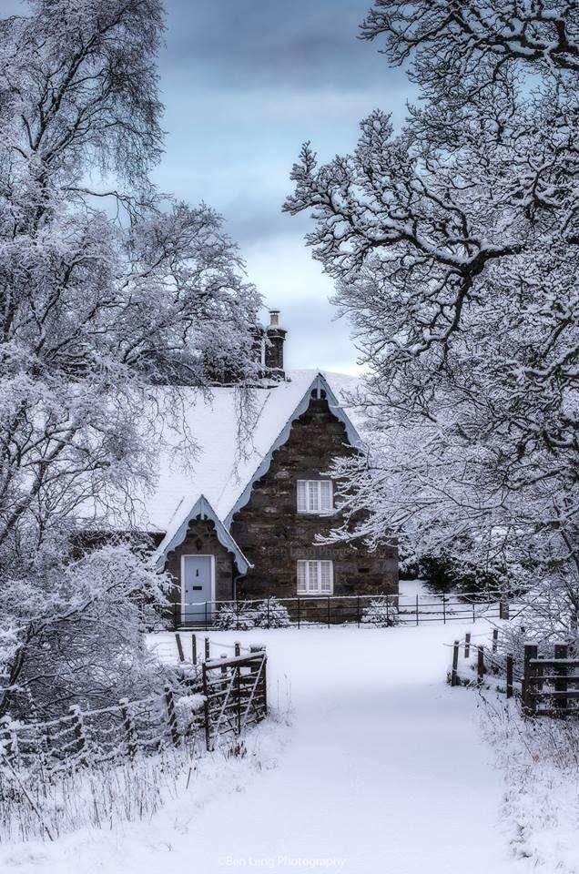 Beautiful Winter Scene In Kenmore Scotland Beautiful Winter Scenes Winter Scenery Winter Landscape