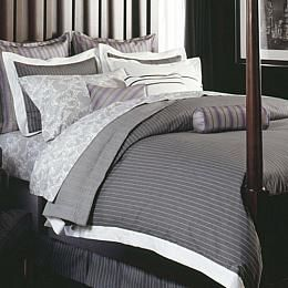 Love This Gray Pinstripe Duvet Maybe With Navy And Or Yellow Accents
