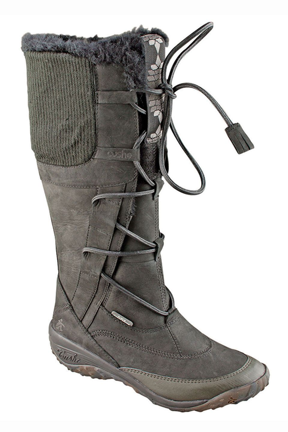 Cushe Allpine Fern Boots in Black Leather - Beyond the Rack