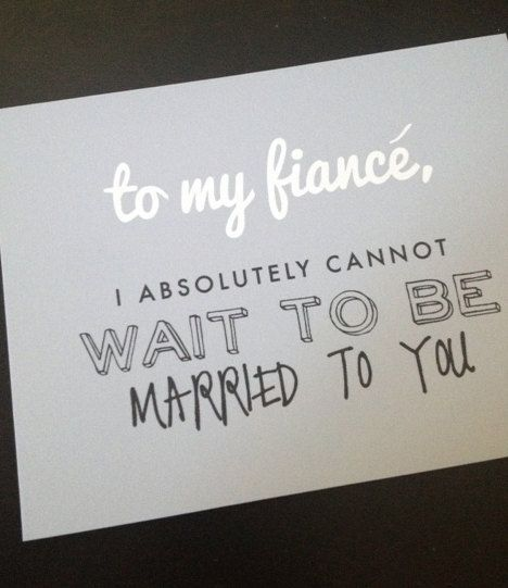 Fiance Quotes To My Fiance Wedding Card on Etsy, $5.00 | Wedding | Wedding  Fiance Quotes