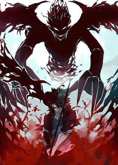 Demon Antimagic Asta Poster By Terpres Black Clover Manga Black Clover Anime Anime Wallpaper