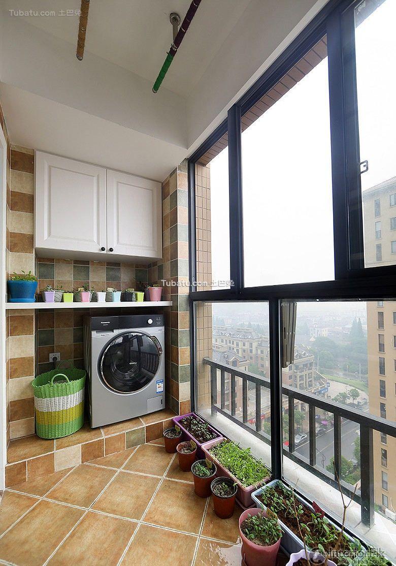 Balcony design of simple home improvement decoration effect 2016 | 2 ...