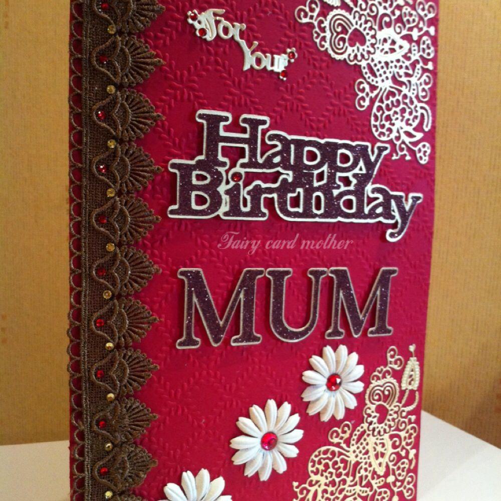 Birthday card for a mum cards handmade birthday cards