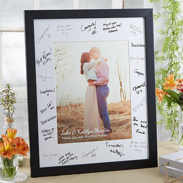 Personalized 16x20 Wedding Signature Photo Frame Wedding Guest Signatures Wedding Guest Book Wedding Book
