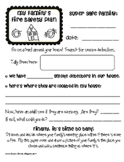 Lesson Plan Sos October Family Fire Safety Plan Homework