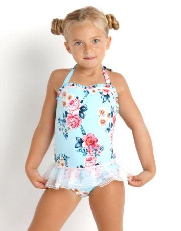 0045a5428b Seafolly Girl Rococo Rose Ballerina Tutu - Vintage Blue ...