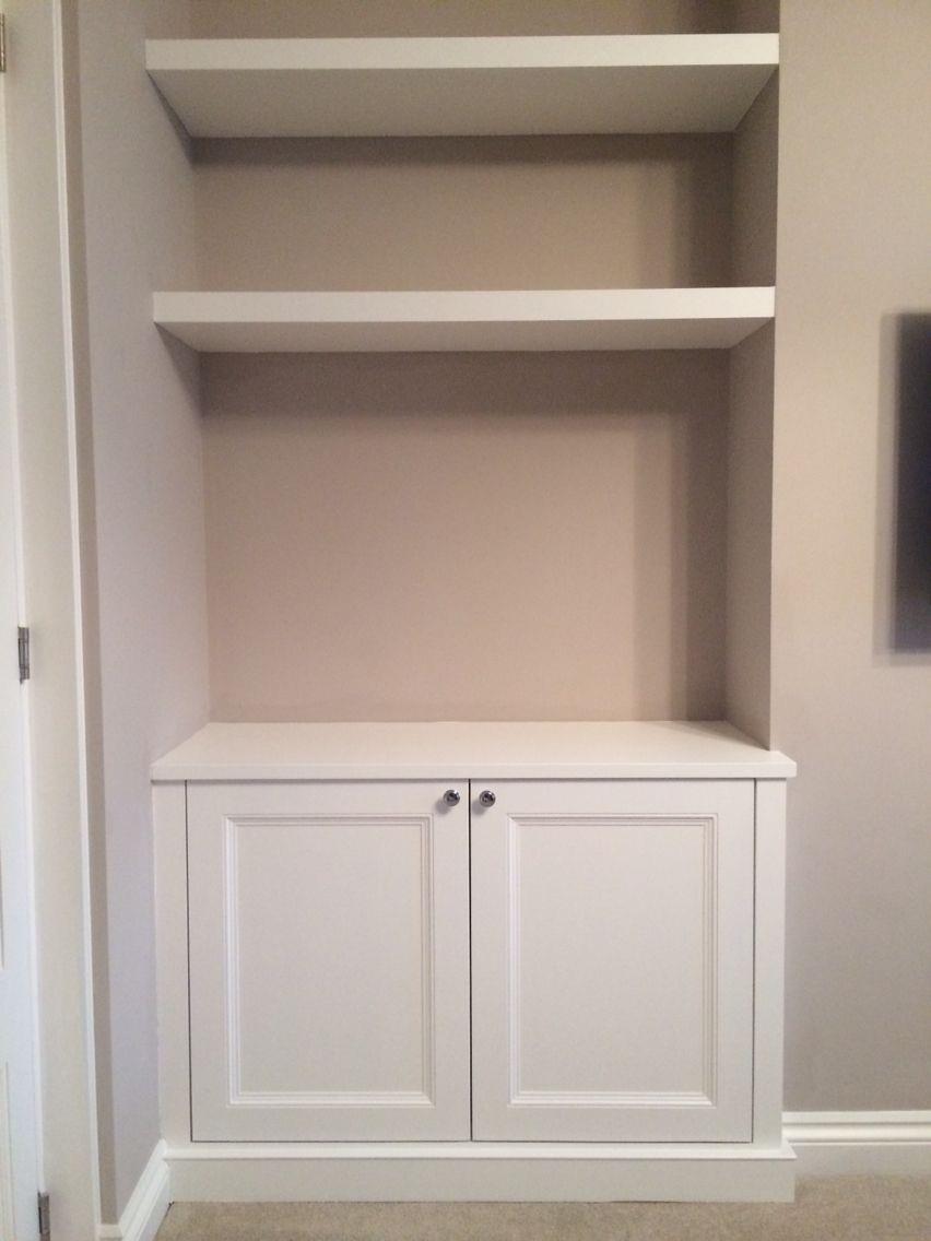 Alcove Cupboard With Floating Shelves For Our Nook Cupboar