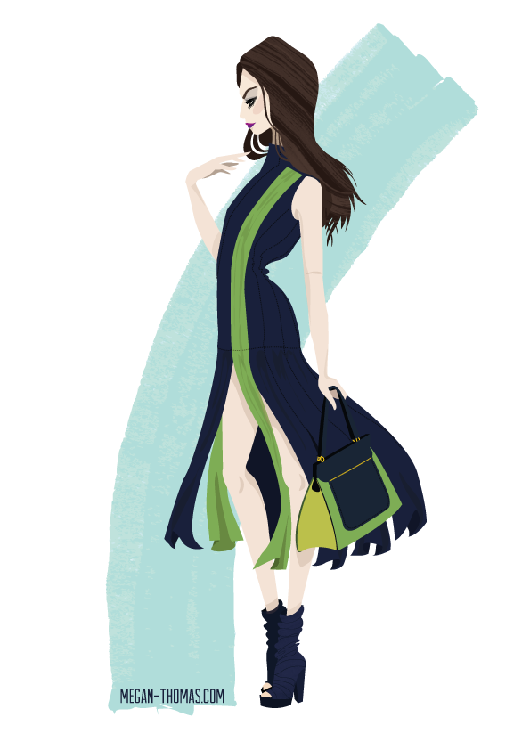 Vionnet A/W 2014 Paris. Day Nine.  Not feeling this drawing thing today.