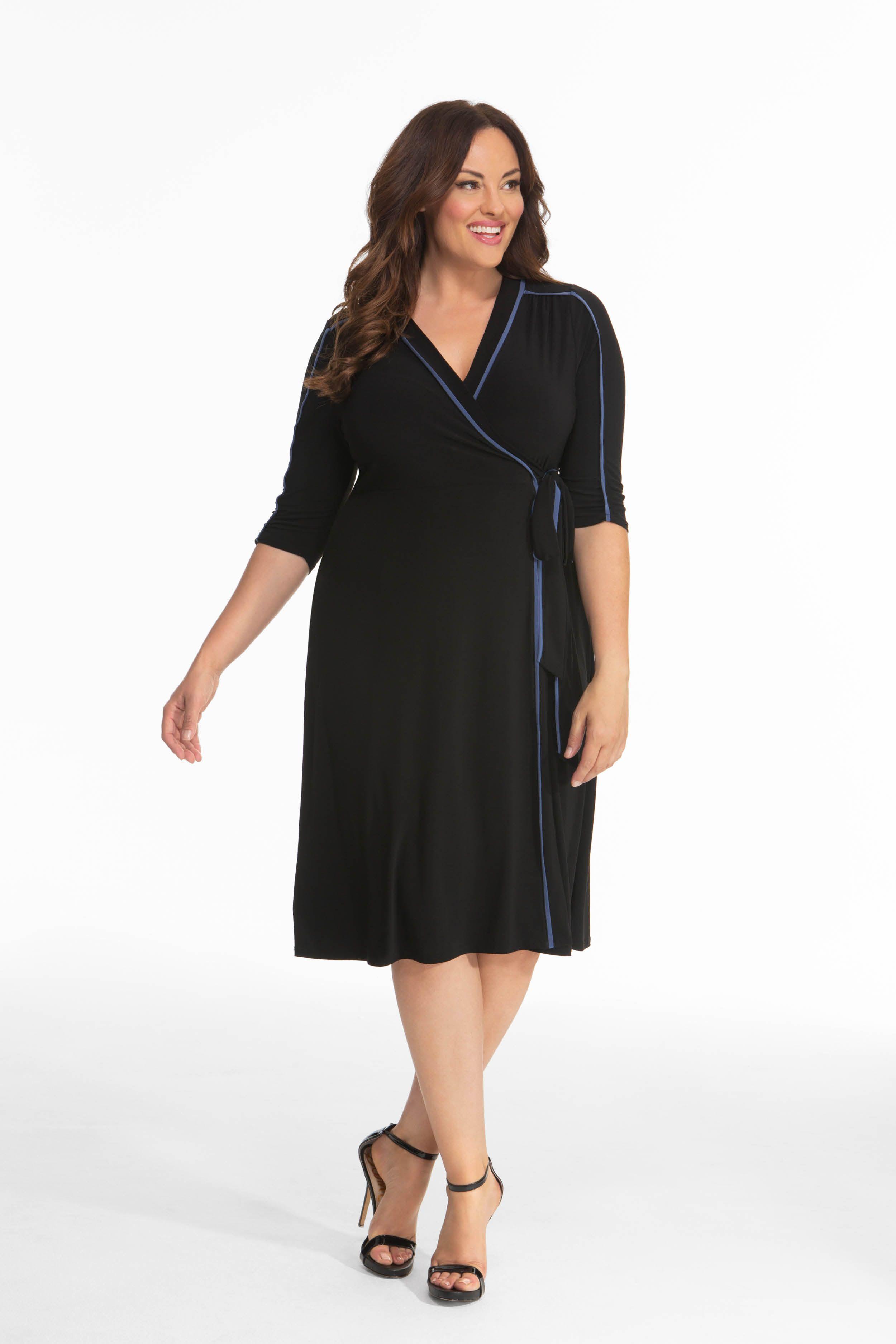 Harper Wrap Dress in 2019   Dresses, Plus size outfits, Plus ...