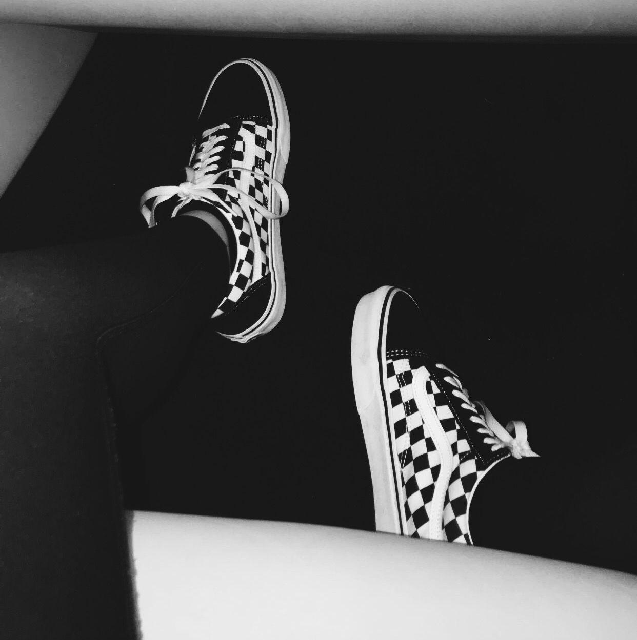 Pinterest ayyeshayy vans shoes aesthetic skater grunge artsy black white clothing style