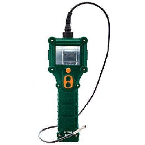 """http://termometer.dk/inspektionskamera-r12842/vandtat-video-borescope-inspektion-kamera-53-BR350-r35190  Vandtæt Video Borescope Inspektion Kamera  5.5mm diameter kamerahoved med 2 indbyggede lyse LED lamper til svagt oplyste områder  Håndholdt design til hurtig, nem, on-the-spot visning i små åbninger  Helt dykkede i vand ned til 1 meter i 1 time  Ikke-aftagelig vandtæt 39 """"(1m) fleksibel svanehals kabel bevarer konfigureret form  2.7 """"(68mm) TFT LCD monitor for detaljerede billeder..."""