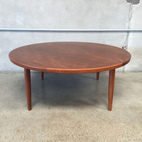 Danish Modern Round Teak Coffee Table Marked Made In Denmark Teak Coffee Table Coffee Table Outdoor Coffee Tables