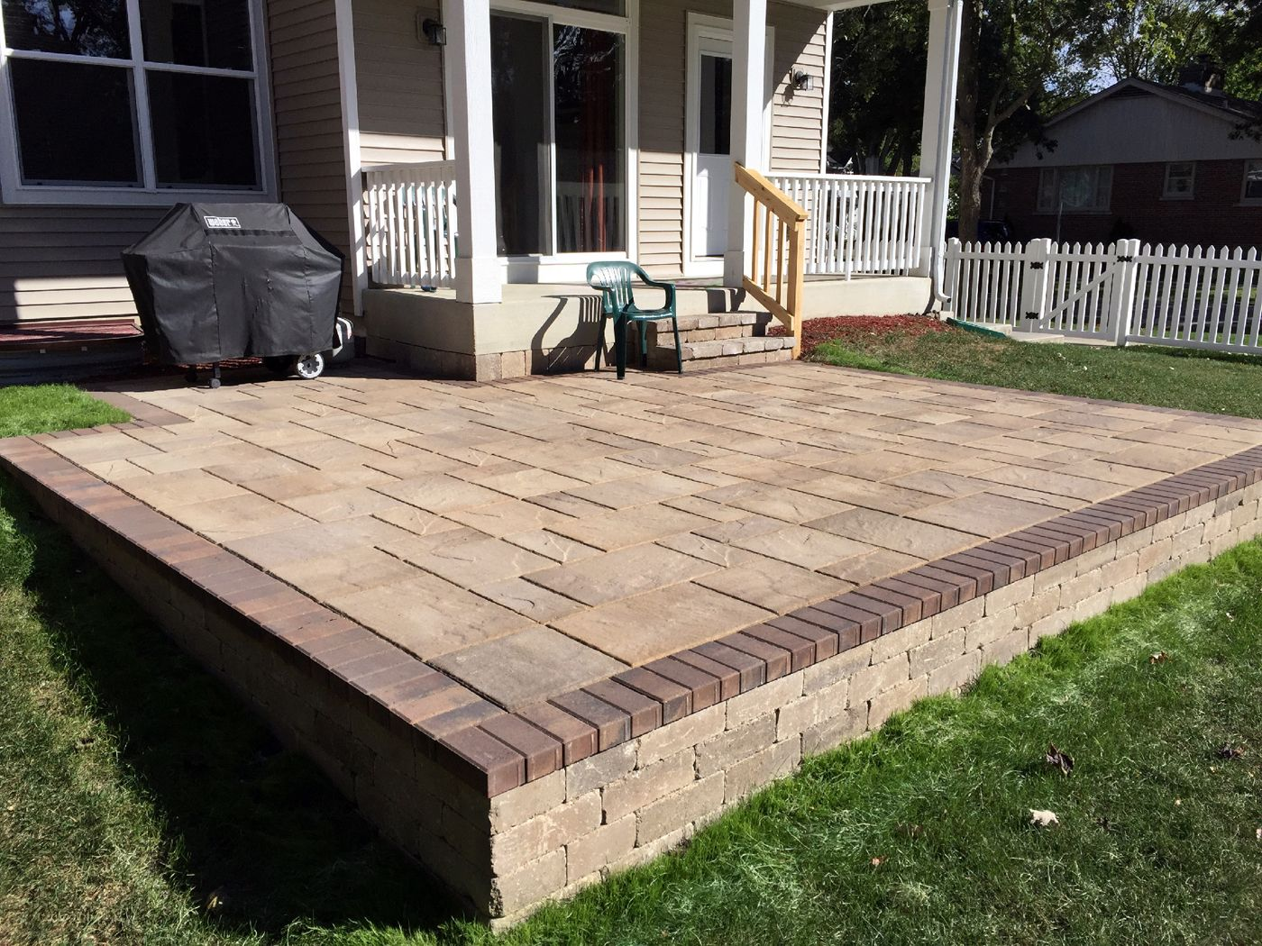 Raised Belgard Patio In Downers Grove, IL