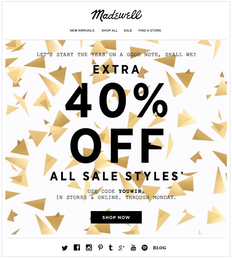 7 Fresh Design Ideas for Your New Year's Email Marketing