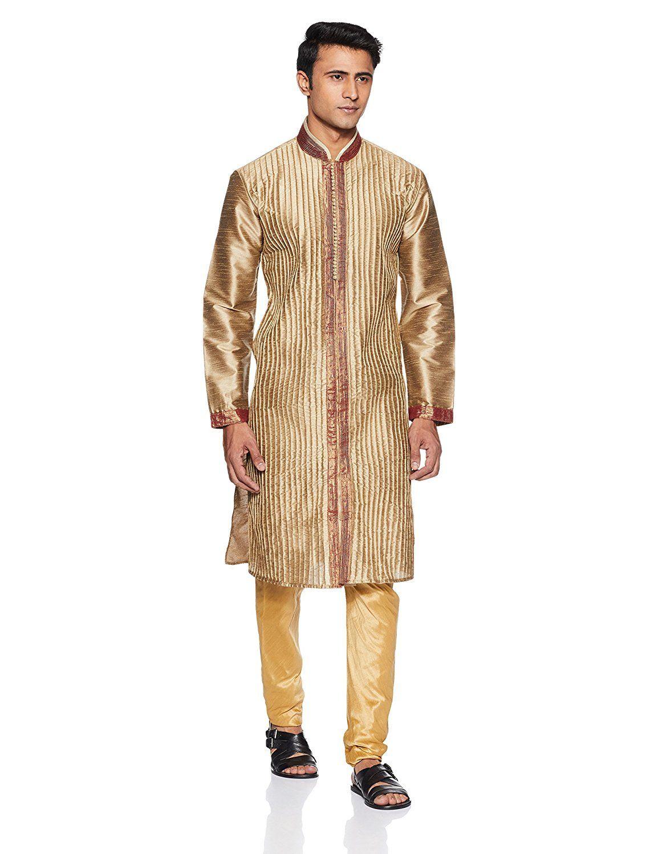 design intemporel bc895 63333 Manish Creations Men's Silk Kurta Pyjama: Amazon.in ...